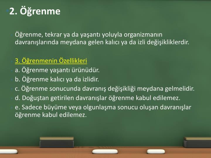 2. Öğrenme