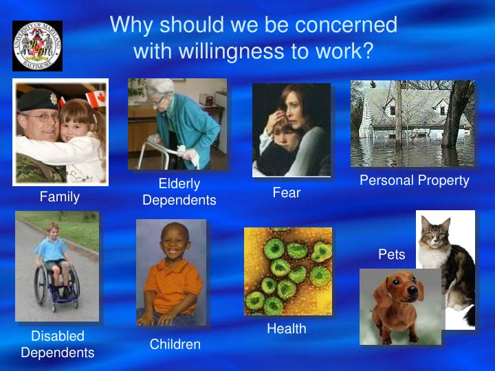 Why should we be concerned    with willingness to work?