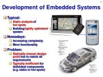 development of embedded systems