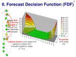 ii forecast decision function fdf