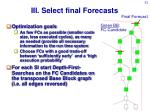 iii select final forecasts