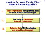 inserting forecast points fcs general idea of algorithm