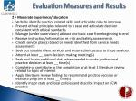 evaluation measures and results2