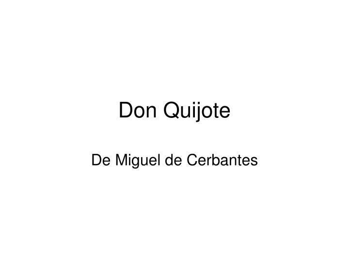 don quijote n.