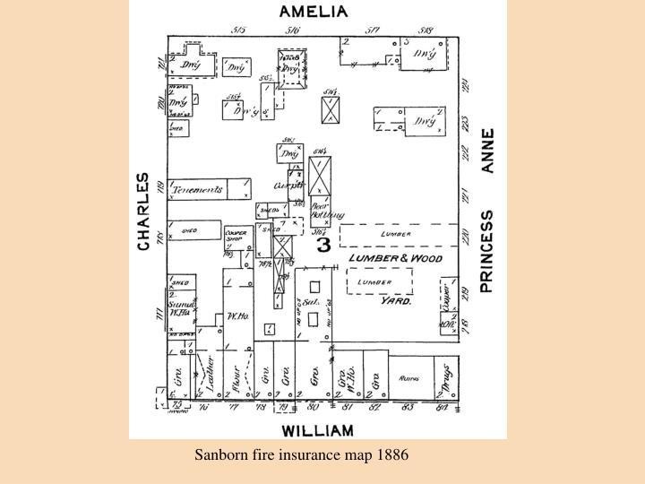 Sanborn fire insurance map 1886