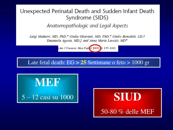 Late fetal death: EG