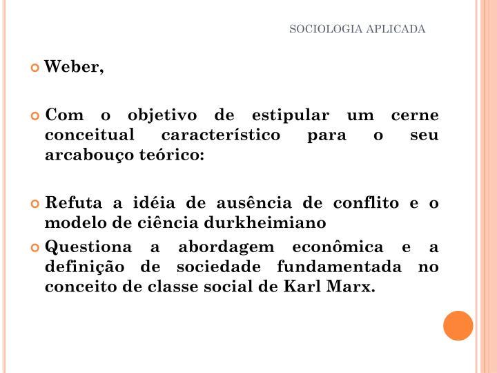 SOCIOLOGIA APLICADA