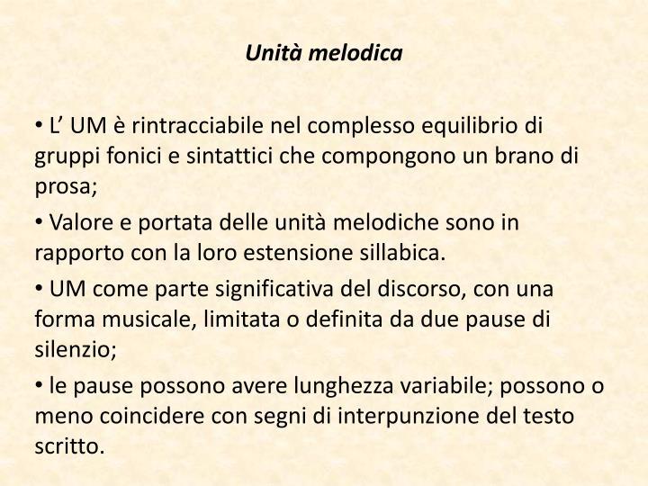Unità melodica