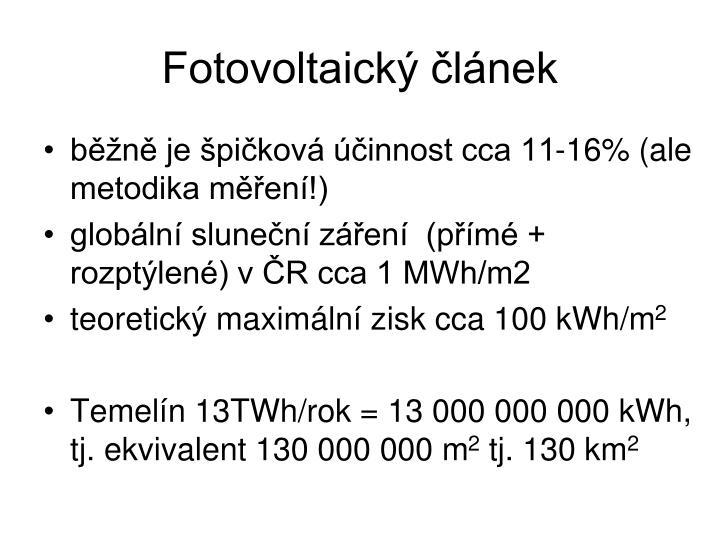 Fotovoltaický článek