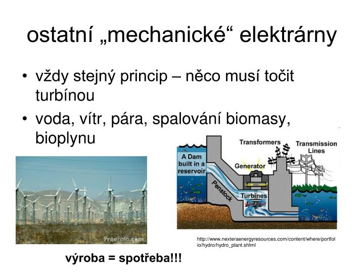 """ostatní """"mechanické"""" elektrárny"""
