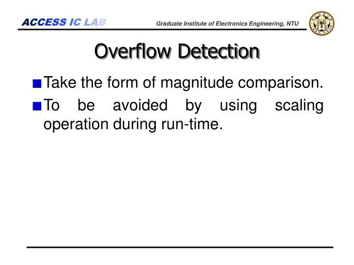 Overflow Detection