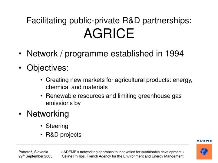 Facilitating public-private R&D partnerships: