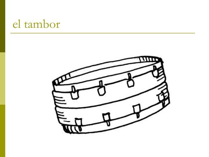 el tambor