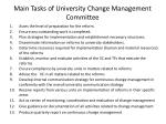 main tasks of university change management committee