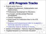 ate program tracks