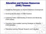 education and human resources ehr themes