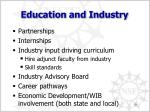 education and industry