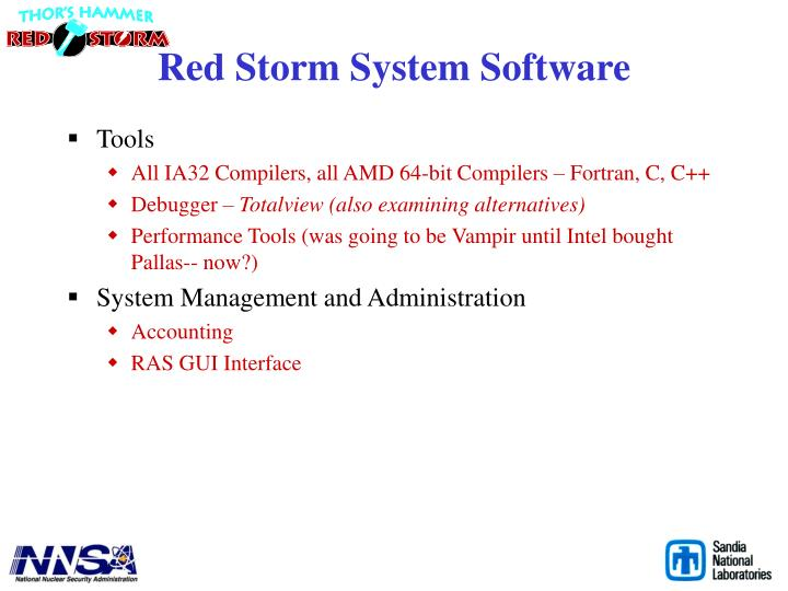 Red Storm System Software