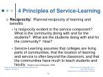 4 principles of service learning3