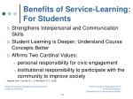 benefits of service learning for students1