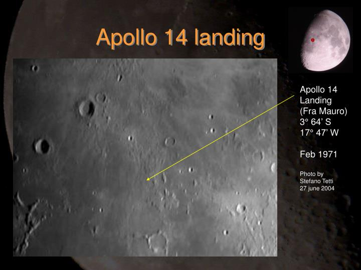 Apollo 14 landing