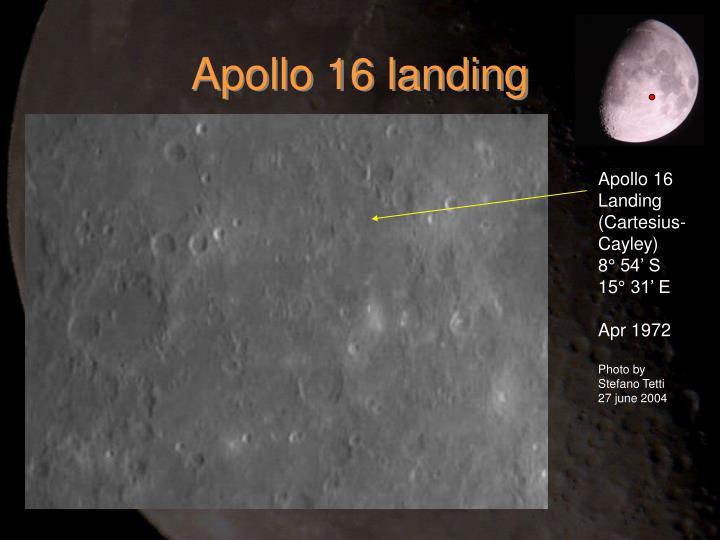 Apollo 16 landing