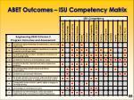 abet outcomes isu competency matrix