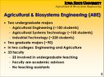 agricultural biosystems engineering abe