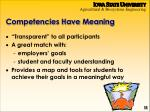 competencies have meaning