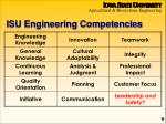 isu engineering competencies
