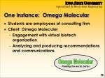 one instance omega molecular