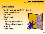 our barriers