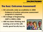 the buzz outcomes assessment