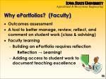 why eportfolios faculty