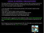 legal moral obligations