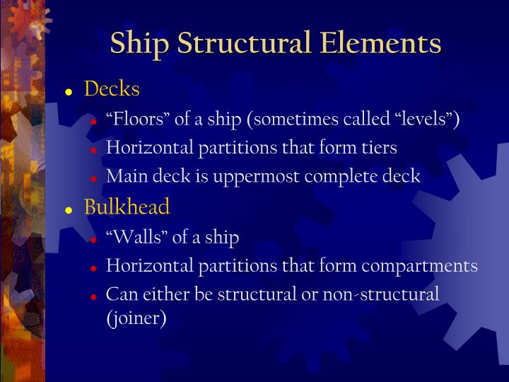 Ship Structural Elements