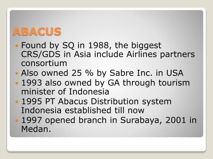 abacus gds wiki