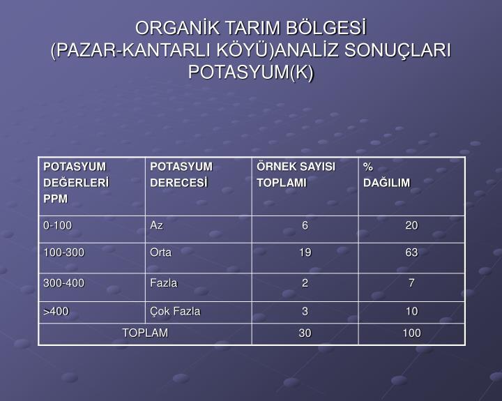 ORGANİK TARIM BÖLGESİ