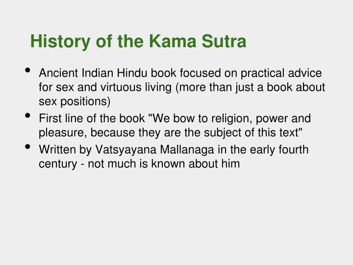 History of the kama sutra