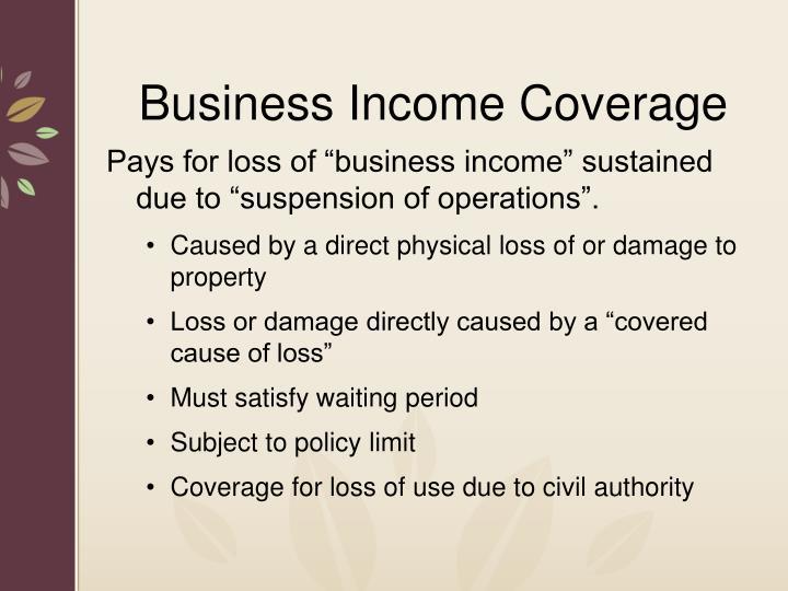 Business Income Coverage