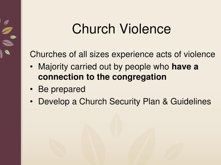 Church Violence