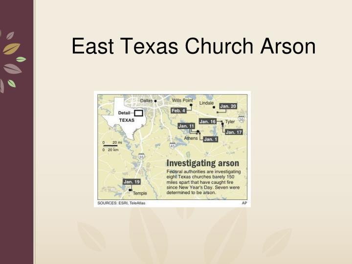 East Texas Church Arson