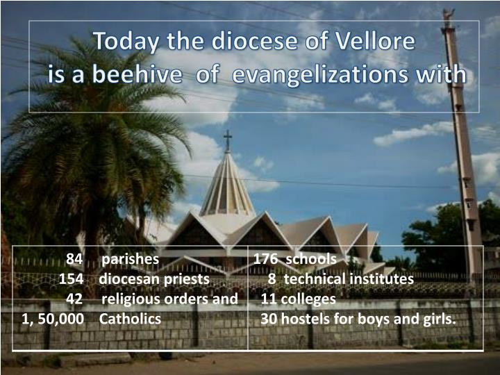 Today the diocese of Vellore