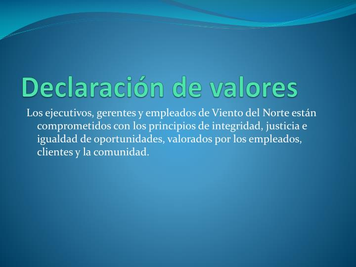 Declaraci n de valores