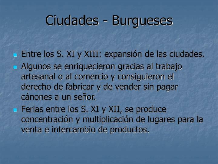 Ciudades - Burgueses