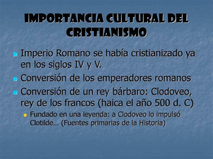 Importancia cultural del cristianismo
