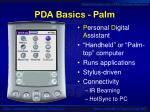 pda basics palm