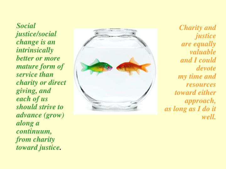 Charity and justice