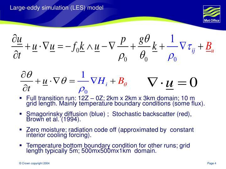Large-eddy simulation (LES) model