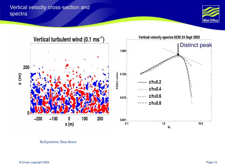 Vertical velocity cross-section and